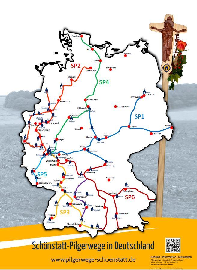 Karte Pilgerwege